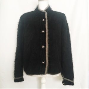 Venesha Vintage Angora Button Sweater Cardigan